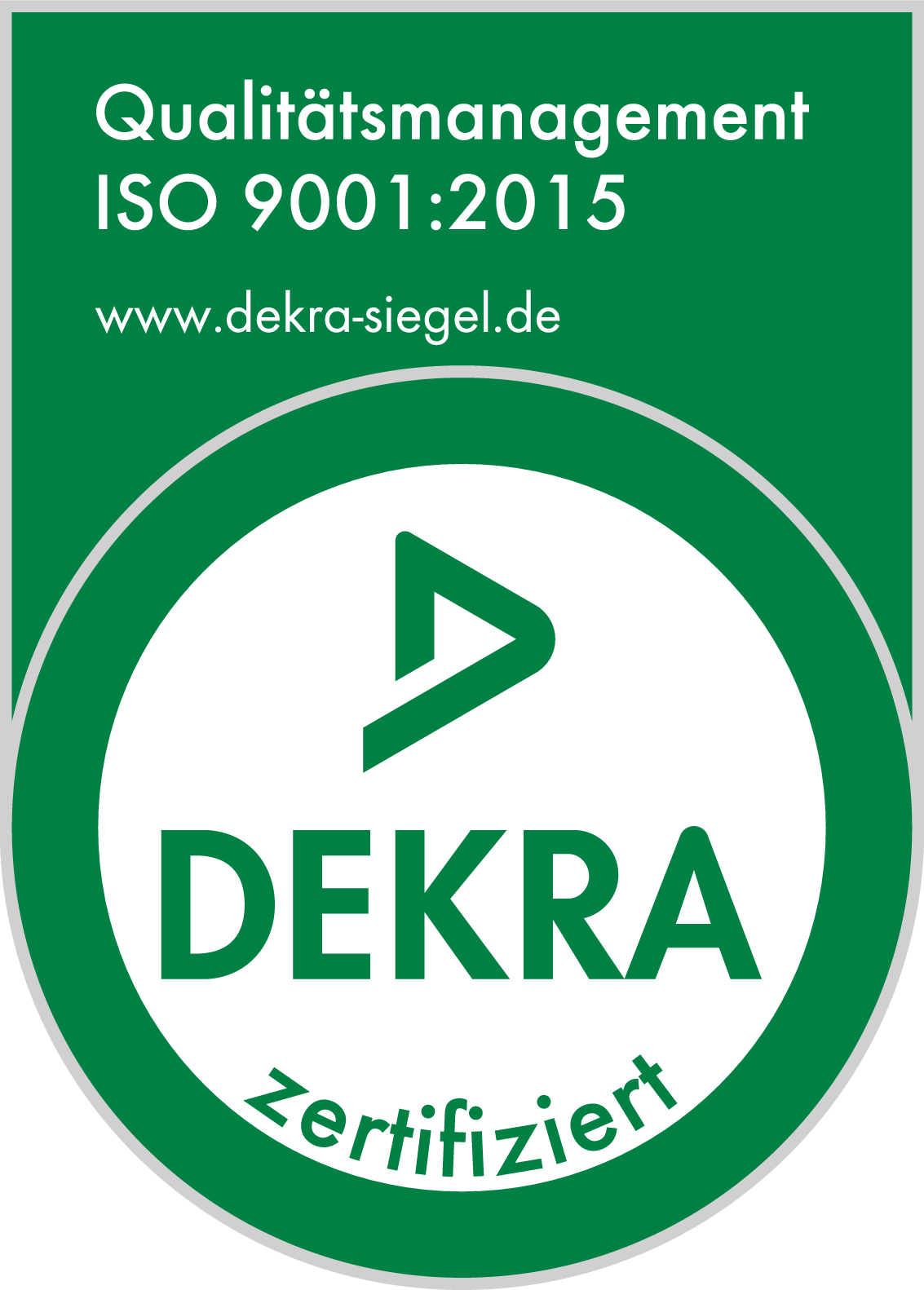 Qualitätsmanagement DEKRA Siegel ISO 9001:2015